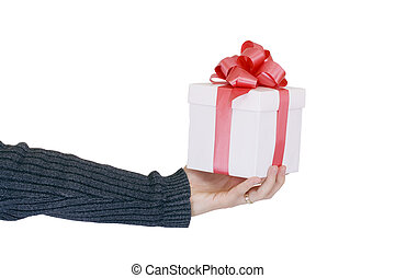 gift offer - a man offering a gift for you