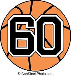 60 basket symbol - Creative design of 60 basket symbol