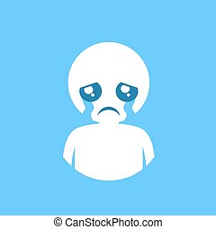 cry expression illustration - Creative design of cry...