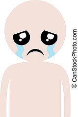 cry man illustration - Creative design of cry man...
