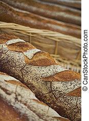 Breads in a bakery