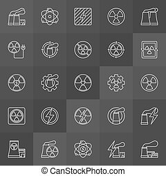 Nuclear energy icons
