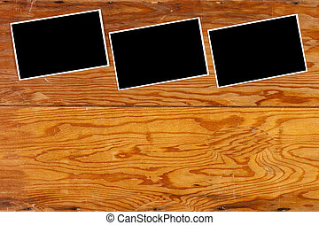 Wood paneling - The old wood paneling in the background.