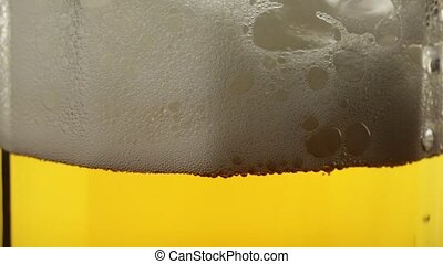 Pouring Beer In The Glass (Mug). Beautiful Background Of The...