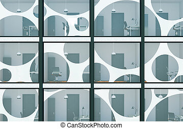 Facade concept - Abstract glass building background with...