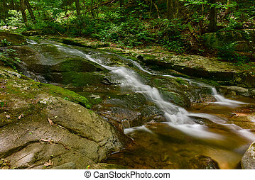 Shenandoah National Park - Virginia - Waterfalls along a...