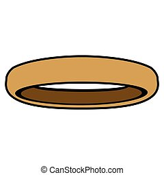 Isolated golden ring on a white background, Vector...