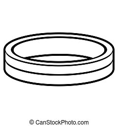Isolated ring outline - Isolated outline of a ring, Vector...