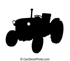 Tractor - Illustration of a tractor. Isolated white...