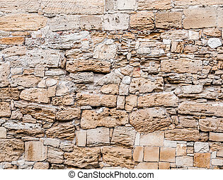 Texture of old stone wall.