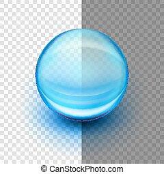 Translucent soft gel capsule. EPS 10