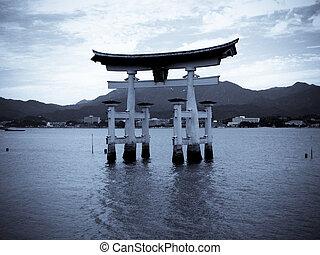 Tori gate at Miyajima
