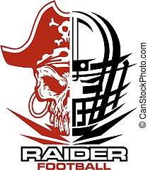 raider football team design with facemask and mascot for...