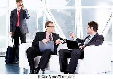 Business negotiations - Image of different business...
