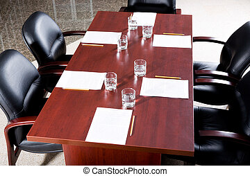 Before seminar - Image of empty business conference room...