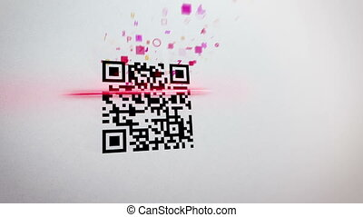 """QR code scanner applies lazer and gets information"" -..."
