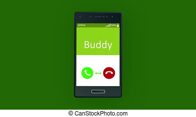 """Humorous animated mobile phone calling"" - ""Merry 3d..."