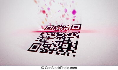 """QR code scanner uses lazer and analyses info"" - ""Amusing 3d..."