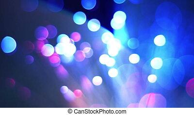 Close up of fiber optics