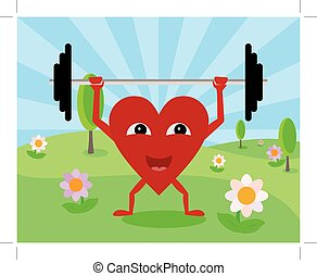 heart lifting weights