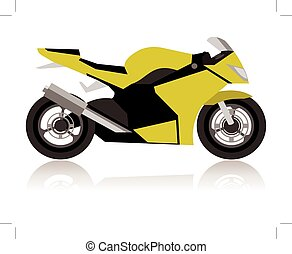 motorcycle concept - abstract racing motorcycle concept