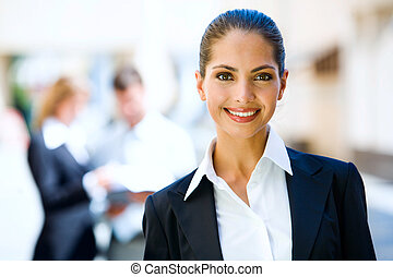 Successful woman - Successful young business woman with...