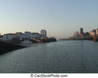 Les Sables D'Olonnes Harbour - Exit the canal of Les Sables...