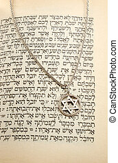 Torah and chain with magen david - Torah and silver chain...