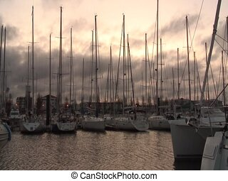 Les sables d'Olonnes harbour - Morning shot in the harbour