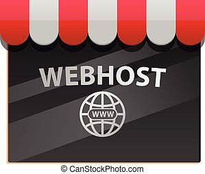 Webhosting window vector icon - Vector illustration of a...