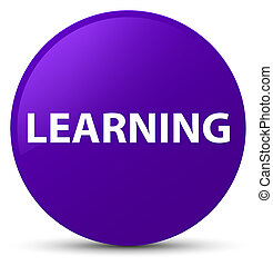 Learning purple round button