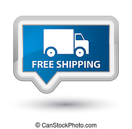 Free shipping prime blue banner button