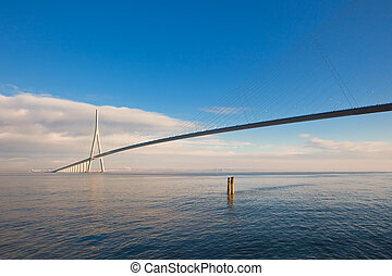 Normandy bridge Pont de Normandie, France - Normandy bridge...