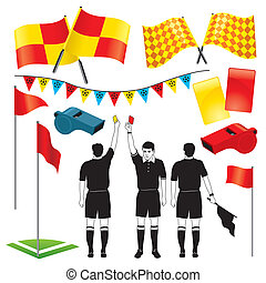 Soccer Referee - Vector collection of various soccer /...