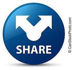 Share blue round button