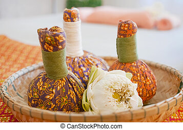The Herbal compress ball for Thai spa massage