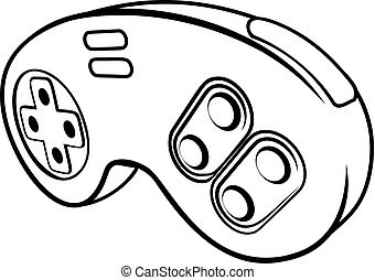 Games Controller - A console video games controller pad icon
