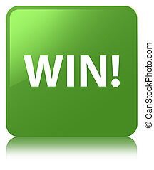 Win soft green square button
