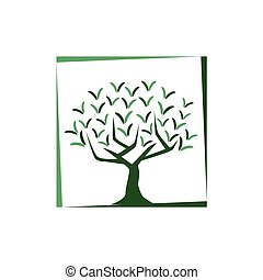 tree illutration - tree with v letters illustration, icon...