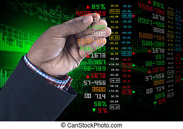 Business man showing the stock chart