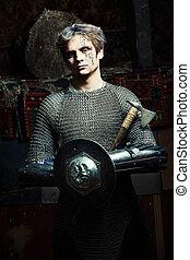 medieval, guerrero