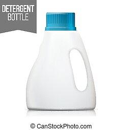 Detergent Bottle Vector. Plastic Detergent Container...