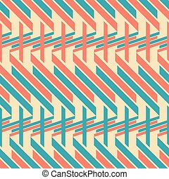 Seamless pattern of thick diagonal and horizontal stripes -...