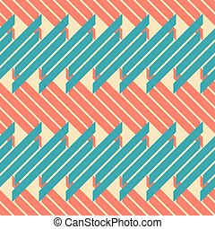 Seamless pattern of thick diagonal stripes in retro colors -...