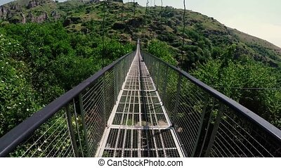 Suspension bridge Khndzoresk, Armenia