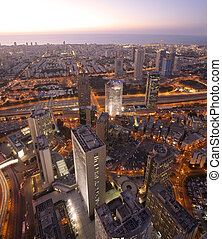 Cityscape - Tel Aviv at sunset, Ramat Gan Exchange District