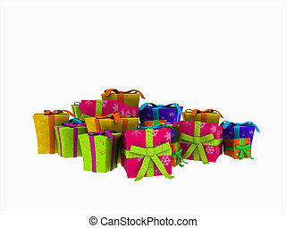 christmas presents - 3d illustration of Christmas presents