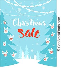 Christmas sale seasonal card