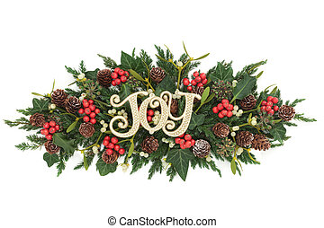 Christmas Joy Decoration - Christmas joy decoration with...