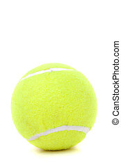 Tennis Ball Over White - A single green tennis ball isolated...